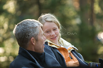 Photo: Father and daughter spending time together while camping.
