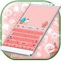 Розовый клавиатуры кексы GO
