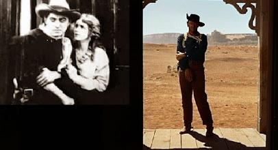"""Photo: Harry Carey e o gesto homenageado por John Wayne em """"Rastros de Ódio"""". Dois atores frequentes nos filmes de John Ford.  http://filmesclassicos.podbean.com"""