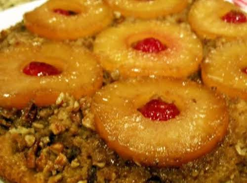 """Click Here for Recipe: Iron Skillet Pineapple Upsidedown Cake """"What a great..."""