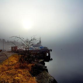 The fog again by Inna Cleanbergen - Landscapes Weather ( bergen, #everydaybergen, hordaland, fog, weather, norge, landscape, norway )