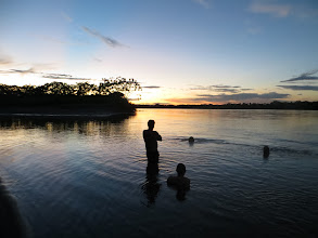 Photo: Sunset and Swimming on the Napo