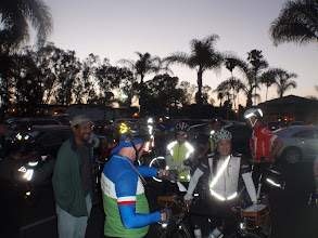 Photo: Rob giving last instructions before the 5:30am start