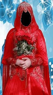 Hijab Bridal Dress Photo Montage - náhled