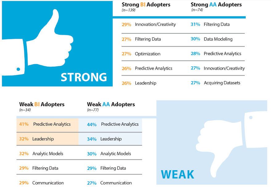 Figure 10: Top 5 Stated Challenges in BI/AA Skillsets
