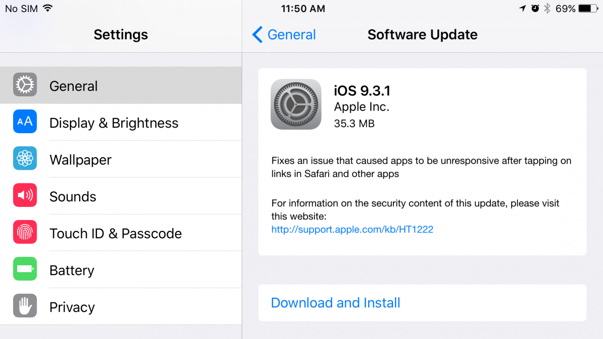 Apple iOS 9.3.1 - Image credit: Gordon Kelly