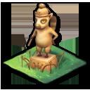 キツネザルの像