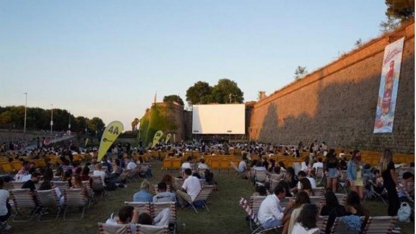La Sala Montjuïc 2021 de cine al aire libre de Barcelona. Foto: Sala Montjuïc