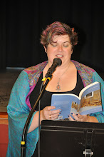 Photo: Dawn-Marie Oliver reads one of her poems.