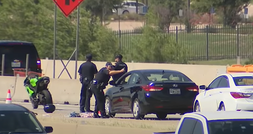 Road rage shooting leaves armed motorcyclist dead after reportedly threatening another driver who also had gun