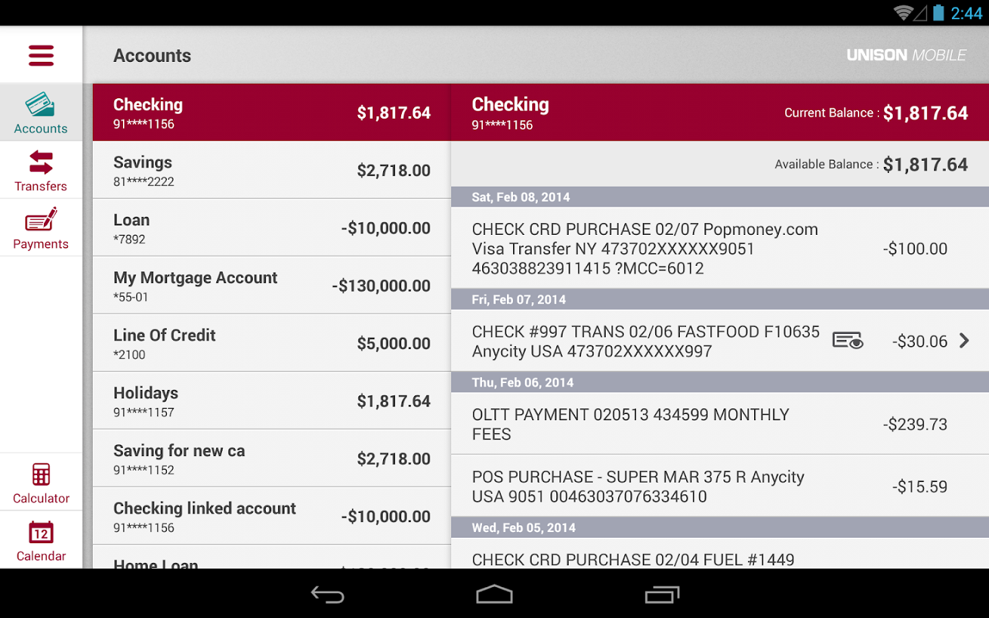 Unison Mobile for Tablet- screenshot