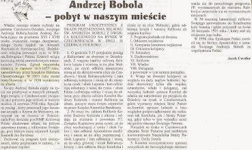 """Photo: Artykuł prasowy """"Życie Czechowic-Dziedzic""""."""