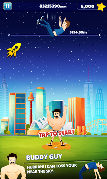 Super Buddy Throw – Toss into Space Buddy Games
