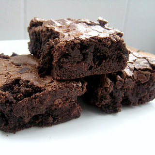 Chewy, Fudgy Triple Chocolate Brownies.