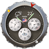 Weather & Analog Clock Widget