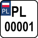 Polish license plates icon