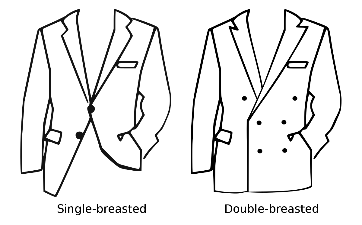 difference between double breasted and single breasted blazer.