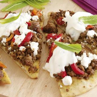 Lamb and Feta Pizza.