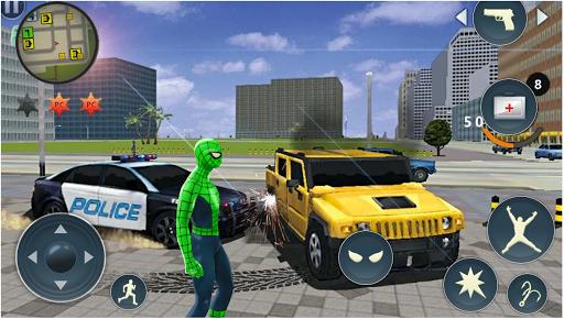 Tu00e9lu00e9charger Spider Rope Hero - Gangster Crime City APK MOD (Astuce) screenshots 2