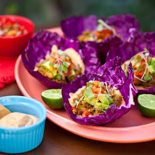 Raw Vegan Walnut Tacos.