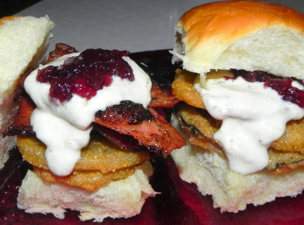 Get your dressing ready to put on top of sandwich and your whole cranberry...