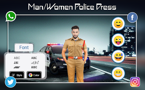 Download Police Photo Suit : Men - Women Police Dress For PC Windows and Mac apk screenshot 6