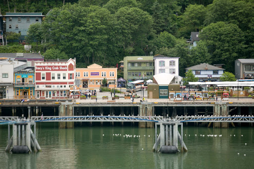 juneau-waterfront.jpg - The waterfront of Juneau's cruise ship harbor.