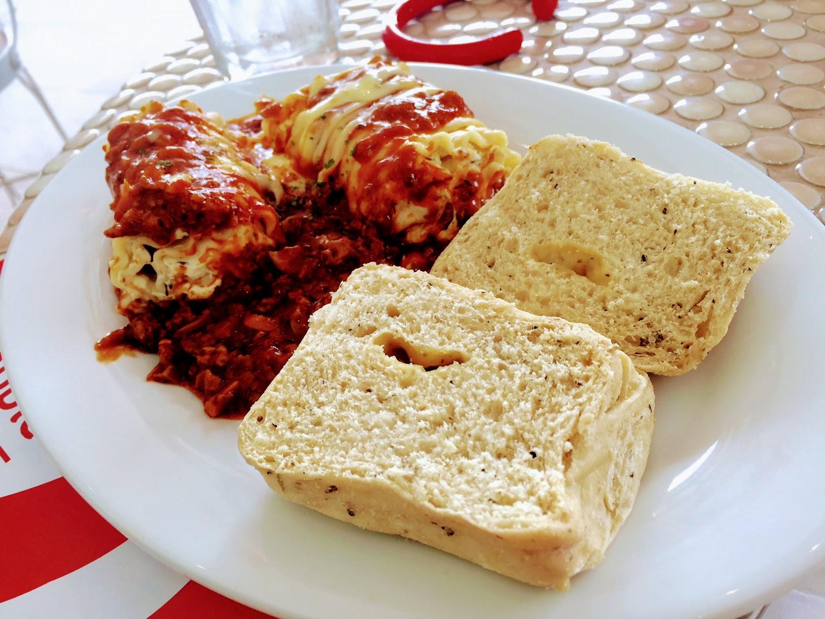 Banapple Marquee Mall lasagna roll ups