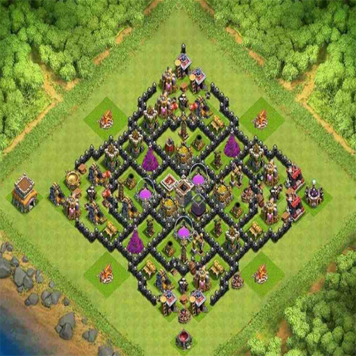 Town Hall 8 Trophy Base Layouts