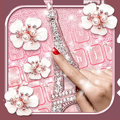 Paris Diamond Flowers Keyboard