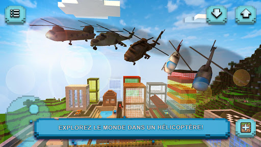 Helicopter Craft: Jeu de vol et de construction fond d'écran 1