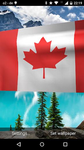 Canada Flag Live Wallpaper 3D