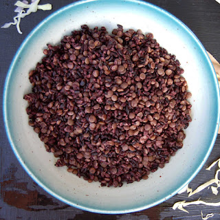 Veggie Fried Black Rice and Lentils