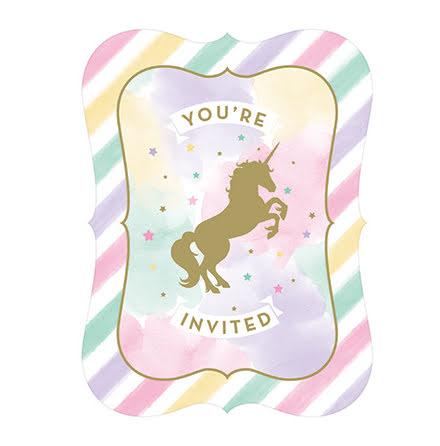 Inbjudningskort - Unicorn Sparkle