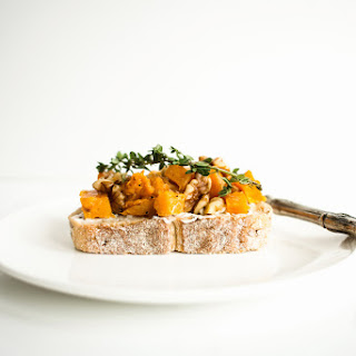 Roasted Pumpkin and Citrus Tartines with Whipped Thyme Goat's Cheese