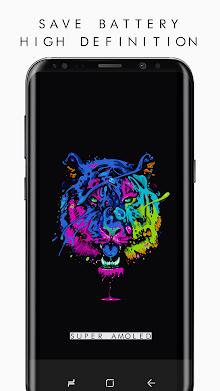 True BLACK AMOLED 4K PRO Wallpapers (2960x1440) screenshot 1