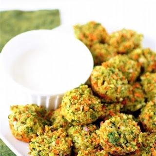 Cheese and Vegetable Quinoa Bites.