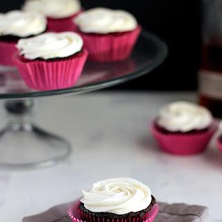 Dark Chocolate Cupcakes with Bourbon Buttercream