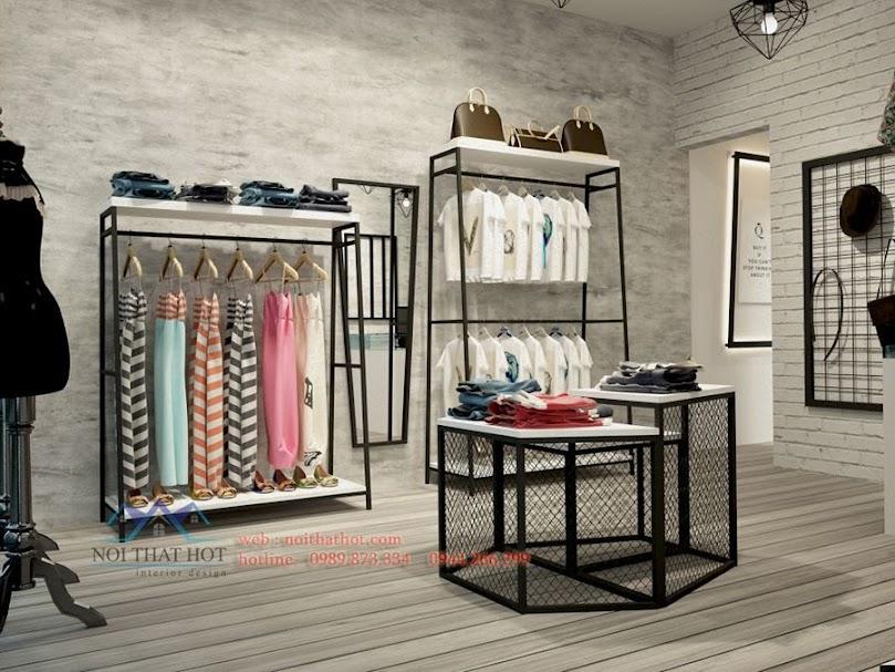 thiết kế shop thời trang chắc chắn
