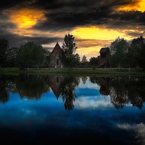 Church by Micke Lindblå - Landscapes Waterscapes