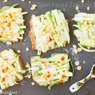 Open Faced Zucchini Toast