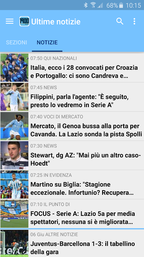 Biancocelesti News - screenshot