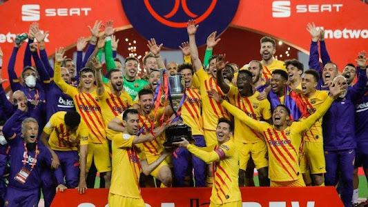 Inilah Skor Pemain FC Barcelona Saat Angkat Piala Copa del Rey 2021 - Tribun Jogja