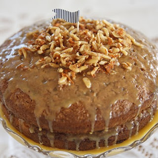 Autumn Carrot & Ginger Cake w Salted Caramel Glaze