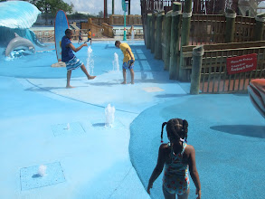 Photo: in the water play area at the Aquarium