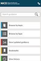 Screenshot of NICE Guidance