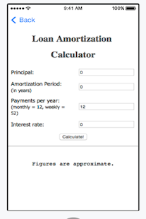 Personal Loan Calculator - náhled