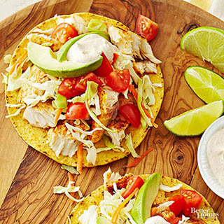 Fish Tostadas with Chili Lime Cream