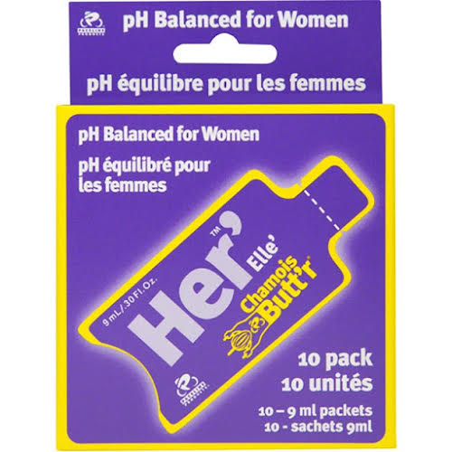 "Paceline Chamois Butt'r Her"": 0.3oz Packet, Box of 10"