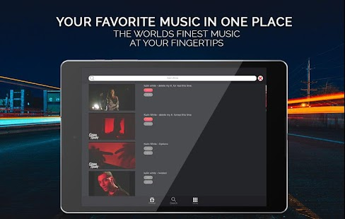 Tubify Free Music Player App (Android)- screenshot thumbnail